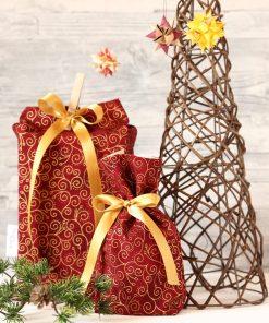 Geschenkbeutel Weihnachten goldene Ranke