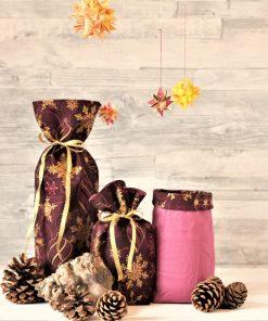 Geschenkbeutel Weihnachten Purple Christmas
