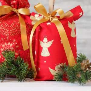 Geschenkbeutel Weihnachten Golden Angel