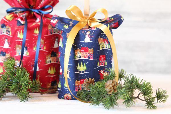 Geschenkbeutel Weihnachten Weihnachtsdorf Kinder