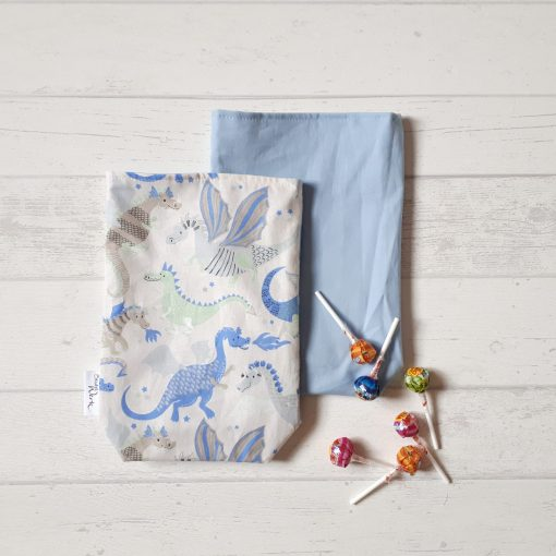 Geschenkbeutel Drachenwelt blau