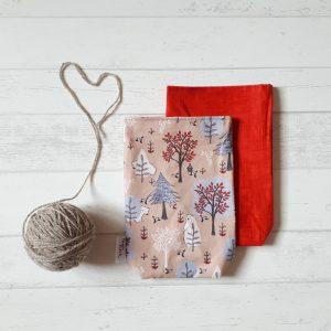 Geschenkbeutel Bärenwald rot
