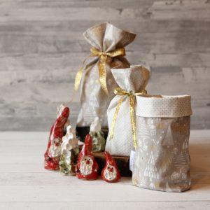 Geschenkbeutel goldene Weihnacht