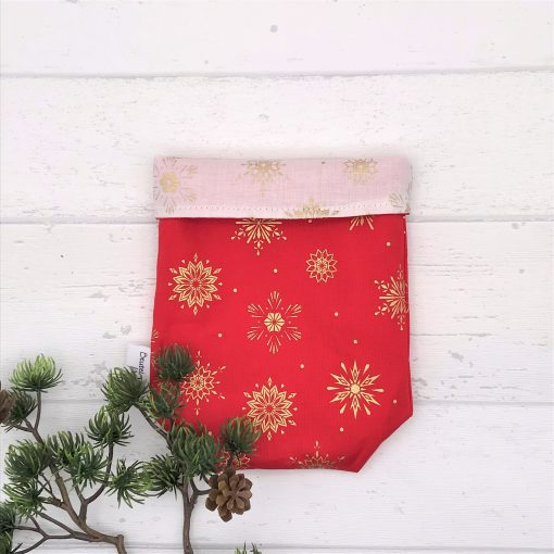 Geschenkbeutel Christmas Stars rot