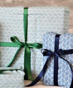 Geschenkbeutel blaugrüne Wabe
